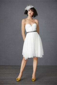 deep sweetheart wedding reception dress