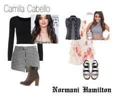 """""""Camila and Normani"""" by stellastellahankinson ❤ liked on Polyvore featuring Sandy Liang, Timberland, Polo Ralph Lauren and maurices"""