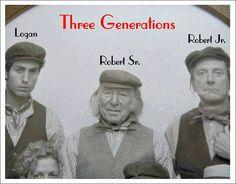 Logan Plant, Robert Plant Sr. and Robert Plant Jr. 3 Generations