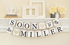 Our Soon To Be Mrs Banner will complete your bachelorette party or bridal shower decorations. A perfect bridal shower decoration for your Soon To