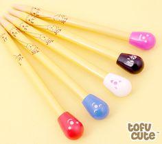Buy Kawaii Emoticon Matchstick Ballpoint Pen at Tofu Cute - £1.50