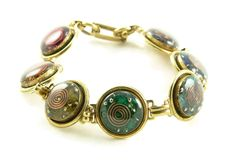 Orgone Energy Chakra Rainbow Bracelet in Antique Gold Finish -- Click image to review valentines gift ideas.