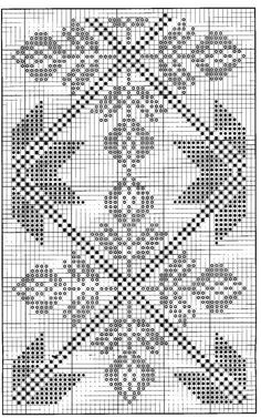 Diy Crafts - free crochet chart could be cross stitch gtgtgt would be a very pretty double sided knitting pattern - PIPicStats Hardanger Embroidery, Folk Embroidery, Embroidery Stitches, Embroidery Patterns, Filet Crochet Charts, Crochet Diagram, Knitting Charts, Free Crochet, Cross Stitch Pattern Maker