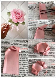 Did you ever want to learn how to make ribbon roses? This easy 10 minute no sew easy diy ribbon roses tutorial will show you how and this is a beginner level project! Satin Ribbon Flowers, Ribbon Art, Ribbon Crafts, Flower Crafts, Flower Diy, Diy Crafts, Zipper Flowers, Fabric Ribbon, Ribbon Flower Tutorial