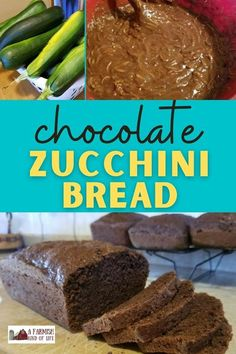 Chocolate zucchini bread is a delicious way to use up those monster zucchinis that were hiding in your garden. This two loaf recipe won't last long, so make a double batch! Loaf Recipes, Quick Bread Recipes, Amish Recipes, Real Food Recipes, Cocoa Bread, Chocolate Zucchini Loaf, Chocolate Recipes, Vegetarian Chocolate, Eating Clean