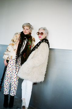 Oh Boy. Lina Plioplyte and Linda Rodin bkstge at Karen Walker.