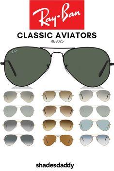 d8c247e1ad Ray-Ban Classic Aviator RB3025 Sunglasses Ray Ban Style Sunglasses