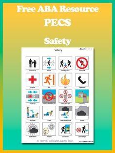 Free Safety PECS : PICTURE EXCHANGE SYSTEM. Pec's allow children who require additional support with communication. It is widely used by children who have little or no communication abilities. #Aba #Resources #Autism #LifeSkills #SpecialNeeds #ABAresources #AutismEducation