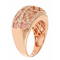 Dyach 14k Rose Gold Pink Opal and 3/5ct TDW Diamond Ring (G-H, I1-I2)