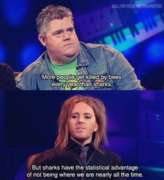 Phil Jupitus and Tim Minchin: More people are killed by bees than sharks. Never mind the Buzzcocks