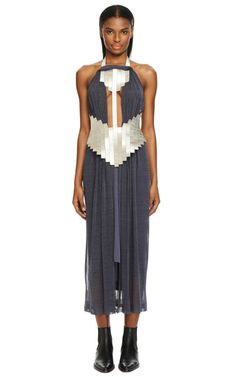 Jersey Beaded Neck Halter Dress by Dion Lee for Preorder on Moda Operandi