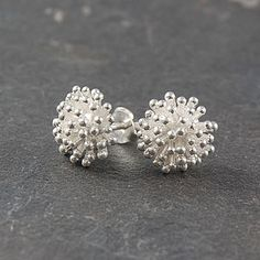 Dandelion Sterling Silver Stud Earrings - women's jewellery