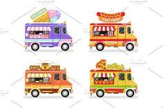 Food Trucks vol.3 Vector by MilkyM on @creativemarket
