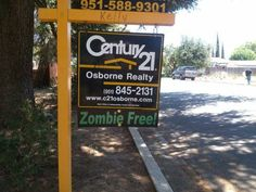 This sign that's ready for the zombie apocalypse. | 24 Real Estate Ads That Totally Nailed It