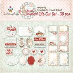 Sweet_Childhood_DieCutSet Child Love, Pretty Pictures, Dream Big, Childhood, Arts And Crafts, Printables, Scrapbook, Illustrations, My Love
