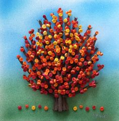 Quilled autumn tree