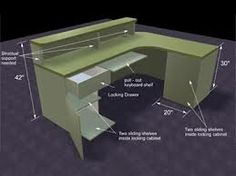 how to build a curved reception desk - Google Search