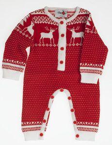 2aeda09cb055 Baby Kids Knitted Christmas Fairisle Pyjamas Onesie Limited Edition ...