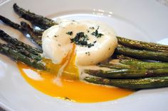 Roasted Asparagus with Poached Egg and Lemon-Mustard Sauce recipe on Food52