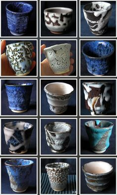 Beautiful  texture and colour of Japanese sake cups.