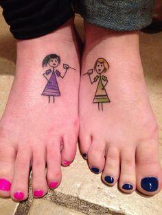 Long distance best friend tattoo.
