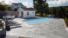The Best 20 Garden Decoration Ideas Of 2019 Swimming Pool Designs, Swimming Pools, Crazy Paving, Natural Stones, Backyard, Mansions, House Styles, Garden, Google