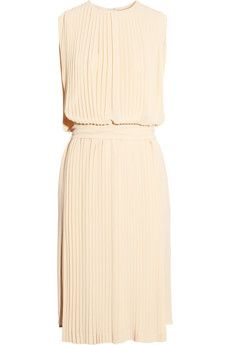 pleated silk-georgette dress ++ chloe