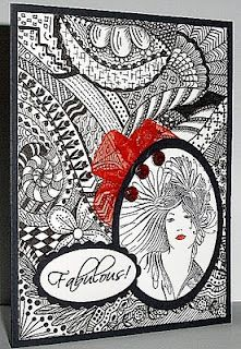 Lilacs and butterflies: Zentangle background
