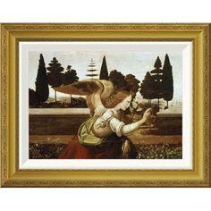 Global Gallery 'Annunciation - Detail' by Leonardo Da Vinci Framed Graphic Art Size: