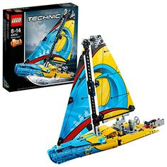 LEGO 42074 Technic Racing Yacht Toy, 2 in 1 Model, Boat and Catamaran Toy, Construction Building Set