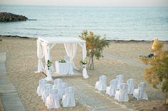Beach wedding, Crete #destinationwedding