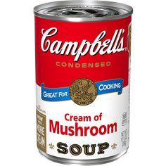 Chicken Tetrazzini - Campbell Soup Company Hash Brown Casserole, Green Bean Casserole, Creamed Mushrooms, Stuffed Mushrooms, Baked Chicken, Chicken Rice, Garlic Chicken, Cheesy Chicken, Chicken Broccoli