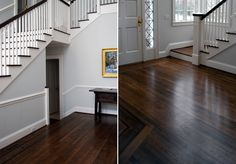 Hardwood floors by Cromwell Hill  I would love dark wood floors in our kitchen!