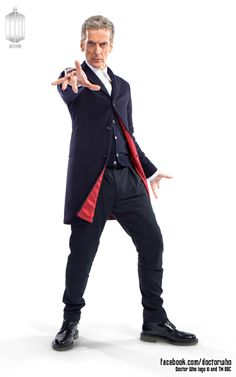 """""""Kidneys!"""" Drum roll please – here's the first official photo of Peter Capaldi in his Twelfth Doctor costume! What do you think? I love it!!!"""