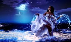 Dreamy Fantasy Blue Monster Wallpaper | High Definitions Wallpapers   GORGEOUS  <3