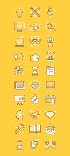 30 linear icons on behance icon design vectoriel, pictogramme, graphisme. Icon Design, Flat Design Icons, Graphisches Design, Flat Icons, Logo Design, Icon Set, Sketch Note, Design Graphique, App Icon