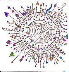 Zentangle Drawings, Doodles Zentangles, Zentangle Patterns, Doodle Drawings, Sharpie Art, Sharpies, Zen Doodle, Doodle Art, Tangle Art