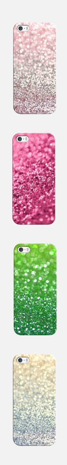 Glitter, glitter and more glitter | Sparkle and Shine phone cases