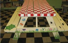 28 Best Picnic Table Paint Ideas Images In 2013 Picnic