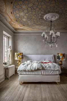 Old Farm Houses, Scandinavian Bedroom, Pattern Wallpaper, Wallpaper Ideas, Moroccan Tiles, Bedroom Vintage, Contemporary Design, Wall Murals, Interior Design