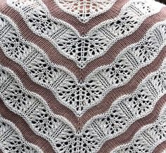 *** THIS IS A DETAILED KNITTING PATTERN FOR THE PICTURED ITEM. ***  Yarden (pronounced yar-dén) is a lace and stockinette stitch shawl that gets its wavy lines from increases and decreases in the lace sections. It begins with a garter stitch tab and is worked from the top down making it an easy shawl to enlarge by working additional repeats of the lace and stockinette stitch stripes. The pattern includes instructions for both fingering and dk weight yarns, but you could work this in any…