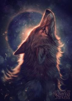 Image about wolf in fantasy by ∞ คภเ๓ค ∞ on We Heart It Anime Wolf, Beautiful Wolves, Animals Beautiful, Cute Animals, Wolf Love, Wolf Spirit, Spirit Animal, Cute Animal Drawings, Cute Drawings