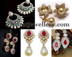 Jewellery Designs: Classic Floral Diamond Earrings