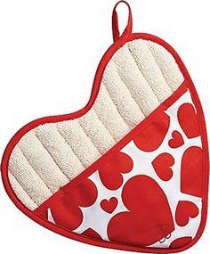 Heart Shaped Oven Mitt