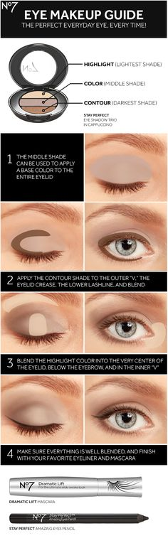 Sharpen your eye makeup skills with No7 eye shadow, mascara, eyeliner and this how-to guide for a brighter, bigger look. | Beauty Tips & Tricks