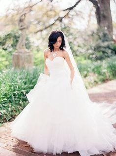 Beautiful tulle wedding dress #wedding #bride #dress