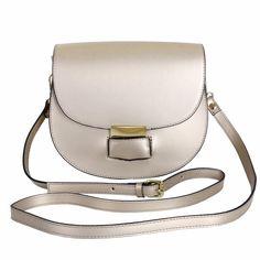 Marlafiji Sophie Brushed Gold Italian leather cross body bag