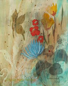 Serenity a butterfly and floral fine art by RobinMariaPedrero, $30.00