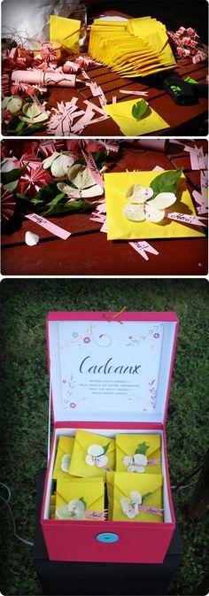 Cadeaux pour les invités des graines de fleurs