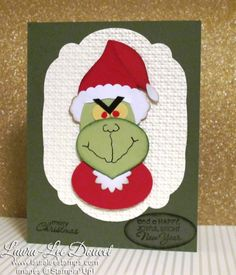 cute Grinch punch art card
